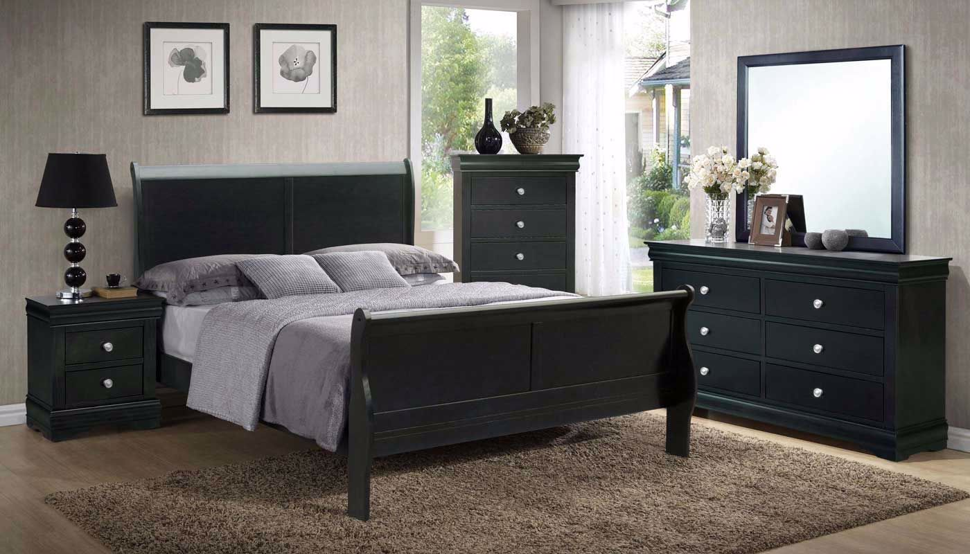 New Orleans Black 6 Piece Queen Collection Home Zone Furniture Bedroom Home Zone Furniture Furniture Stores Serving Dallas Fort Worth And Northeast Texas Mattress Sets Living Room Furniture Bedroom Furniture