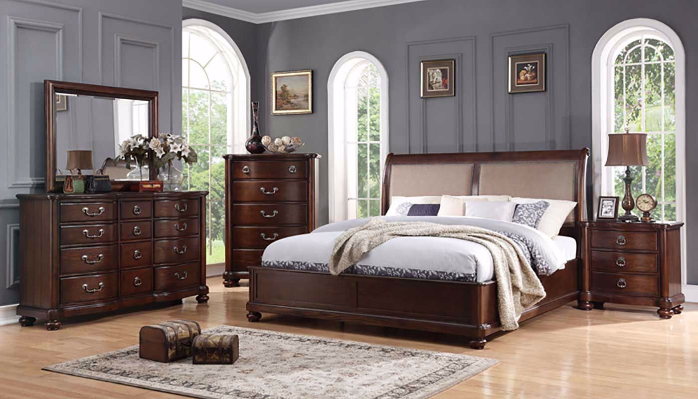 super popular 447eb 91bd7 Lauren 3-Piece Queen Bed, Dresser, Mirror & Nightstand