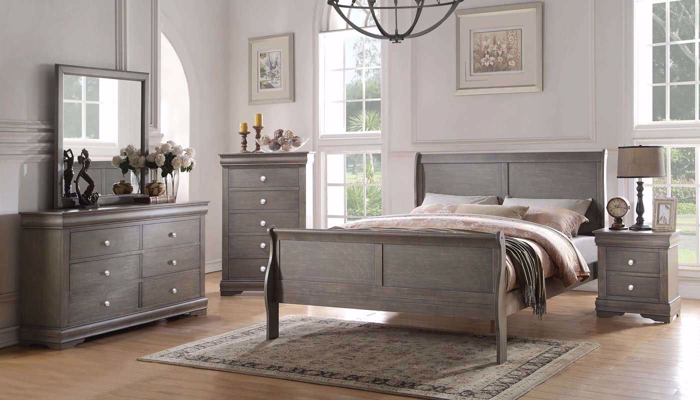 New Orleans Grey King 7 Piece Home Zone Furniture Bedroom