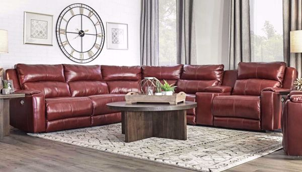 Overstreet Red Sectional Home Zone Furniture Living Room Home