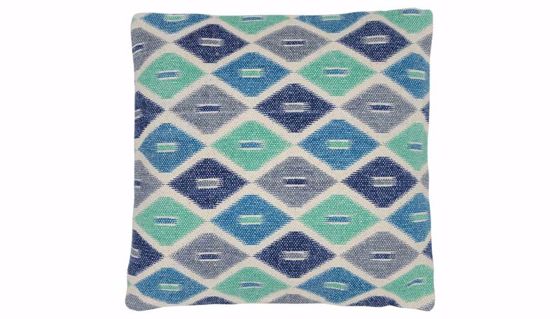 Picture of Perrin Blue Diamond Pillow
