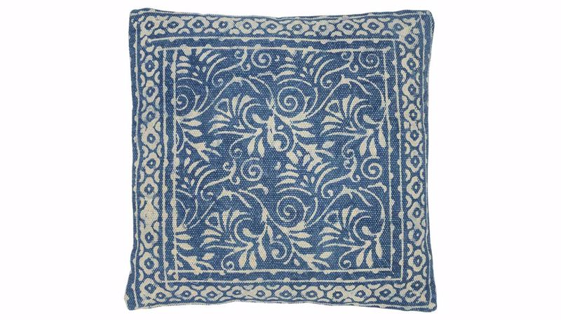 Picture of Rosello Navy Print Pillow
