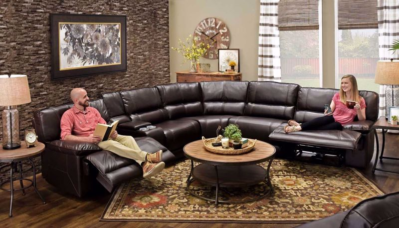 Picture of Kennedy Cholcolate Sectional 4-Piece Set