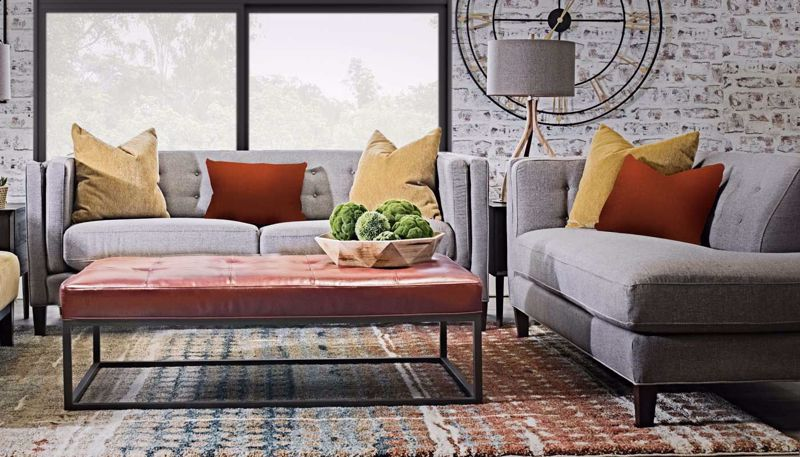 Hudson collection home zone furniture living room for Sofa hudson
