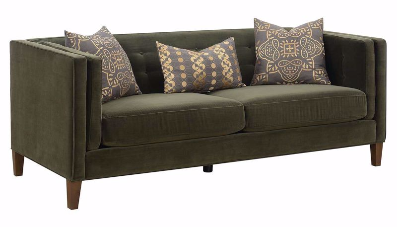 Picture of Dryden Green Sofa, Loveseat & Chair