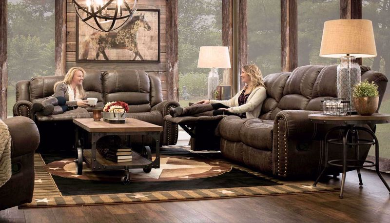 Picture of Amarillo Choc Power Sofa, Loveseat & Recliner