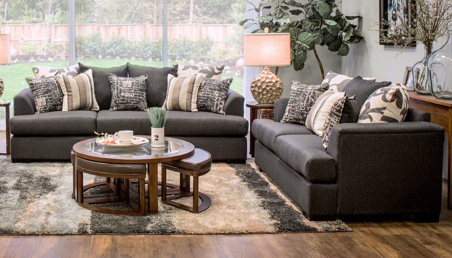 Picture of Passport Navy Sofa, Loveseat & Chair