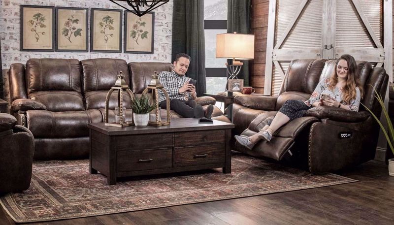 Picture of Grand Slam Power Sofa, Love, Recliner