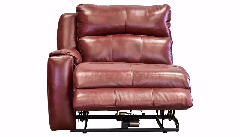 Picture of Overstreet Marsala Leather Left Arm Facing Recliner