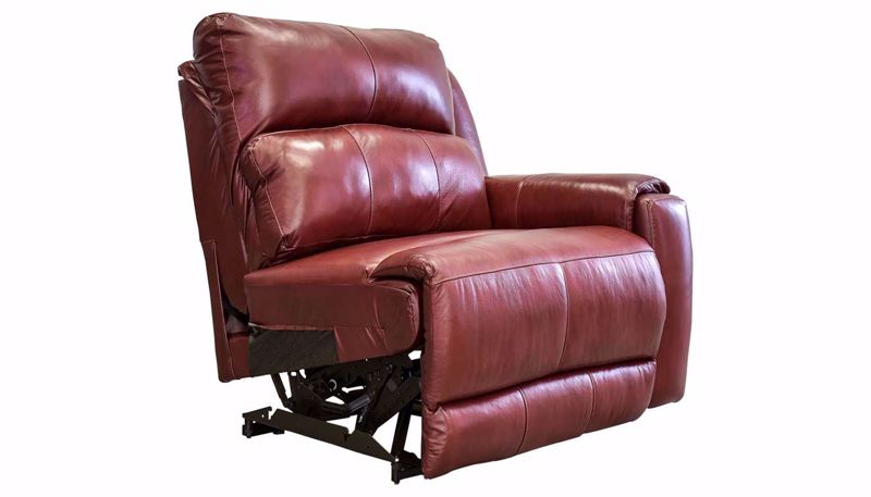 Picture of Overstreet Marsala Leather Right Arm Facing Recliner