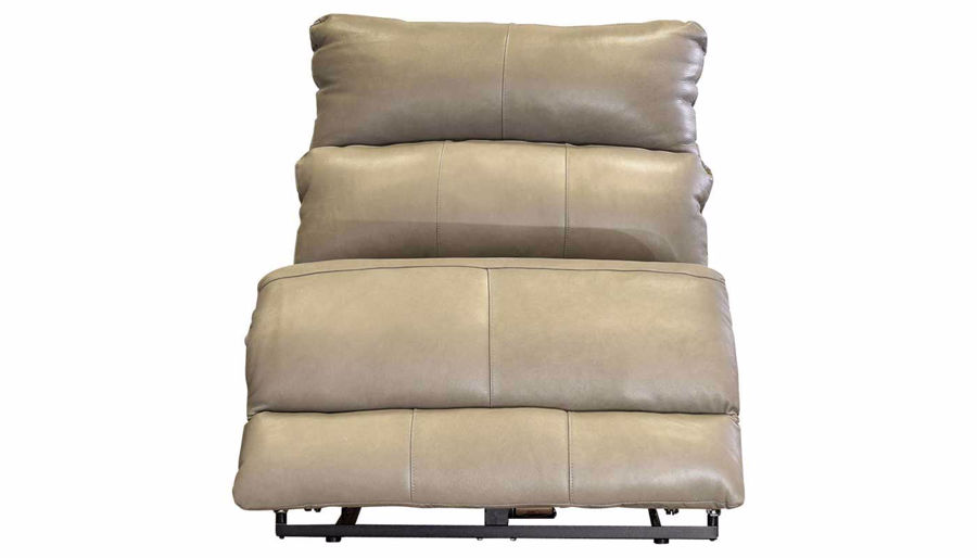 Picture of Overstreet Cobblestone Leather Armless Recliner wi