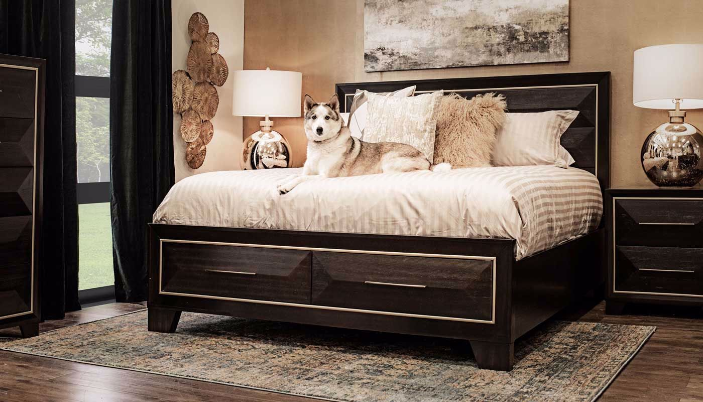 Clark 3-Piece Bed, Dresser, Mirror & Nightstand