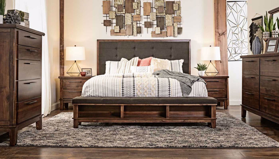 Picture of Latham 3-Piece Bed, Dresser, Mirror & Nightstand