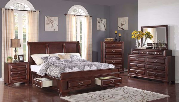Picture of Olivia II 3-Piece Bed, Dresser, Mirror & Nightstand