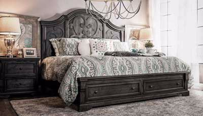 Amalfi 3-Piece Bed, Dresser, Mirror & Nightstand