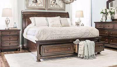 Oregon 3-Piece Bed, Dresser, Mirror & Nightstand