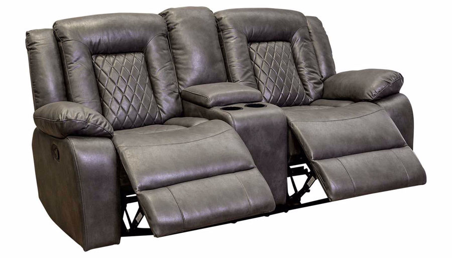 Picture of Lexis Charcoal Reclining Loveseat