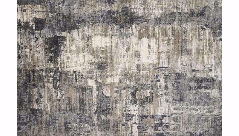 "Picture of Cascade Ivory/Charcoal 6'7"" x 9'2"" Rug"