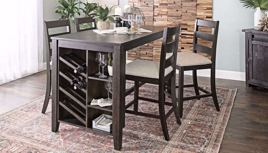 Imagen de Wine Counter Height Table & 4 Stools