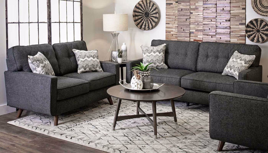 Imagen de Hollywood Graphite Sofa & Loveseat