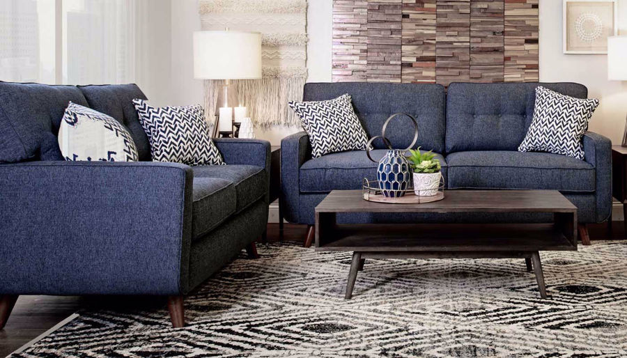 Picture of Hollywood Denim Sofa, Loveseat & Chair