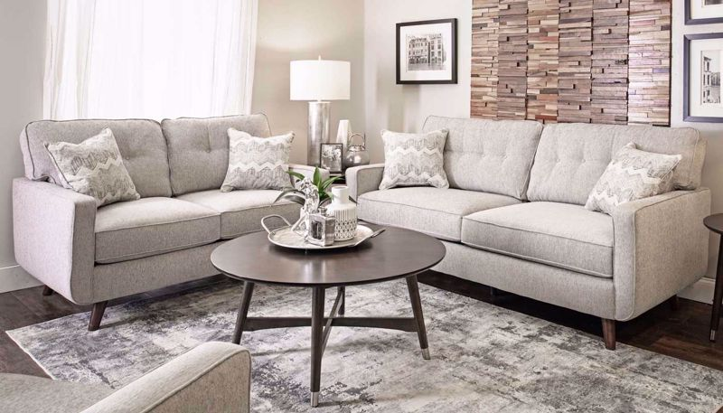 Imagen de Hollywood Dove Sofa, Loveseat & Chair