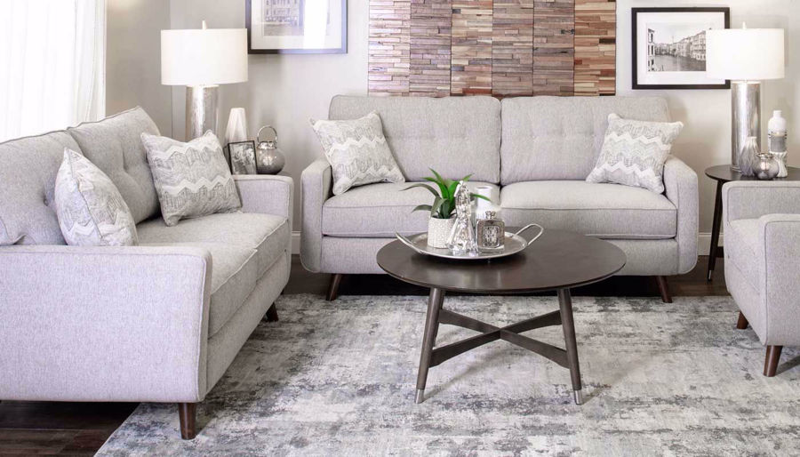 Picture of Hollywood Dove Sofa, Loveseat & Chair