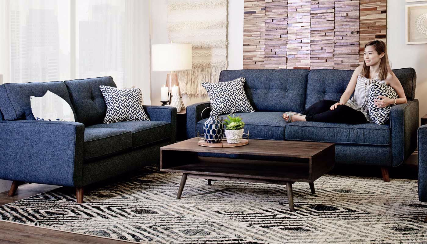 Stupendous Hollywood Denim Sofa Gmtry Best Dining Table And Chair Ideas Images Gmtryco