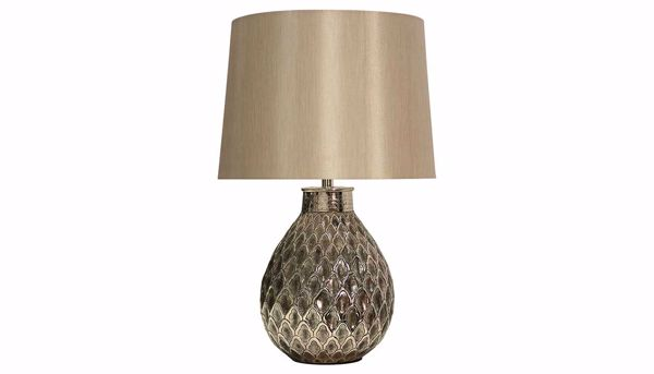 Picture of Embossed Antique Nickel Table Lamp Set of 2
