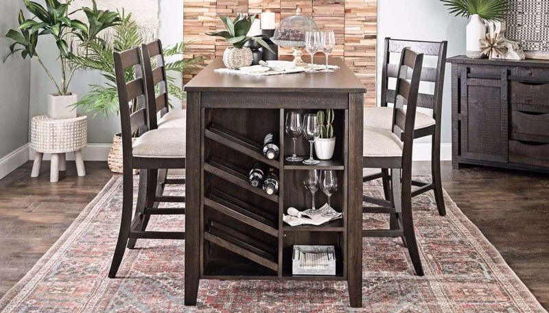 Picture of Wine Table Counter Height Table & 4 Chairs