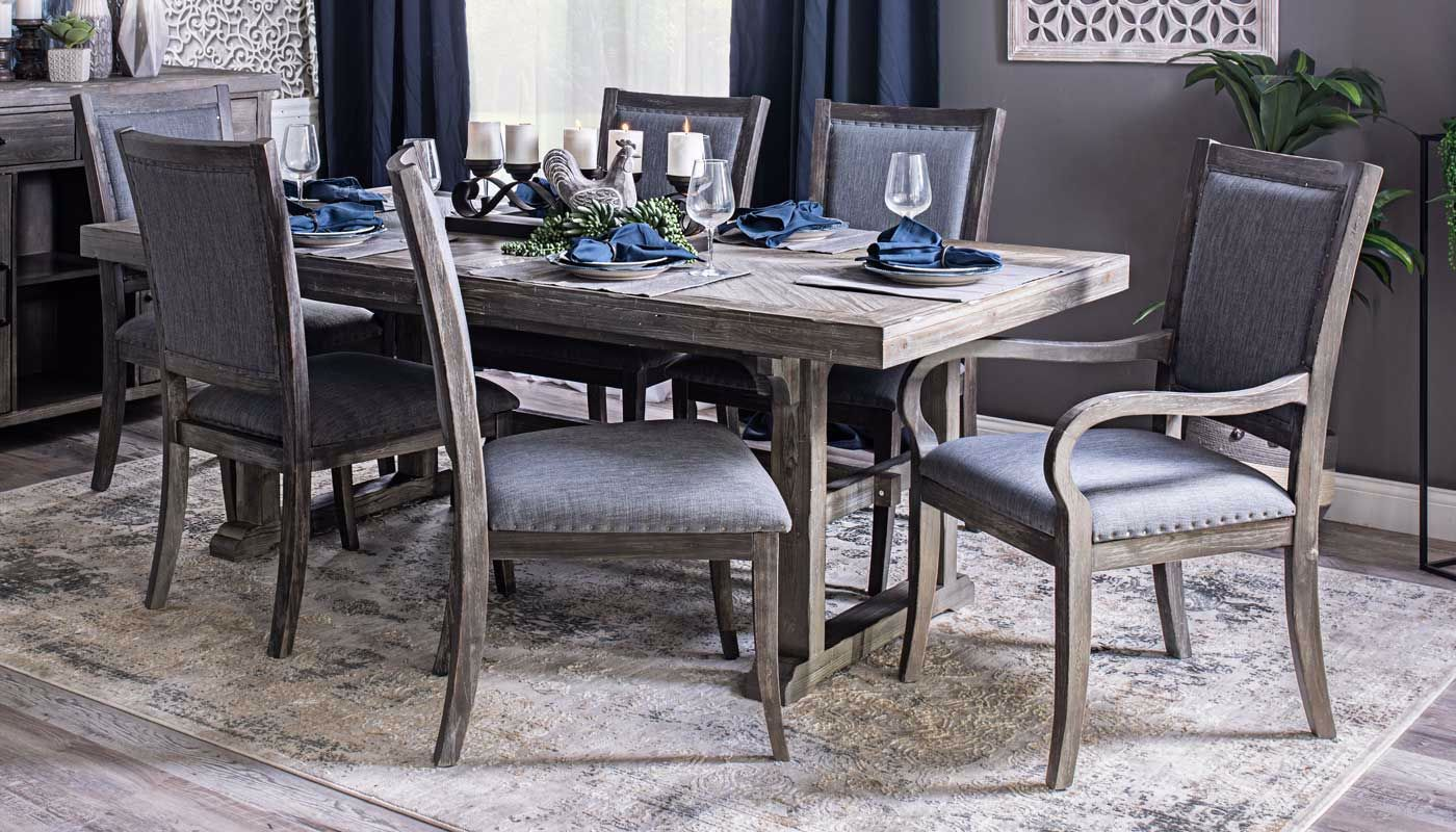 Port Arthur Long Dining Table Chairs
