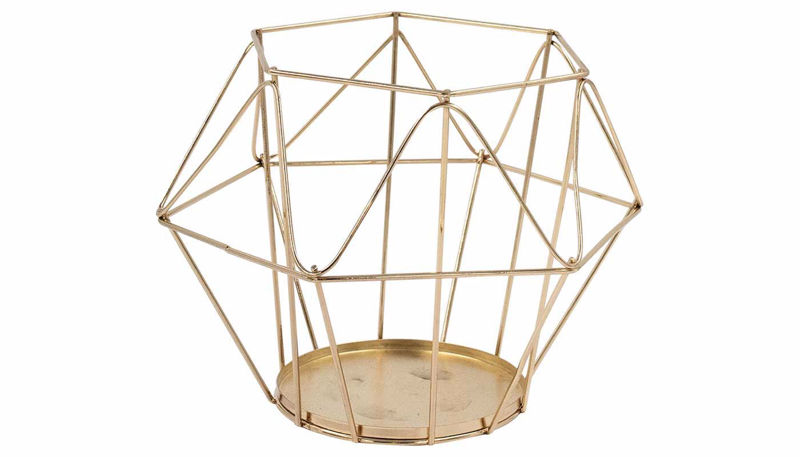 Imagen de HZ Geometric Rose Gold Lantern Large