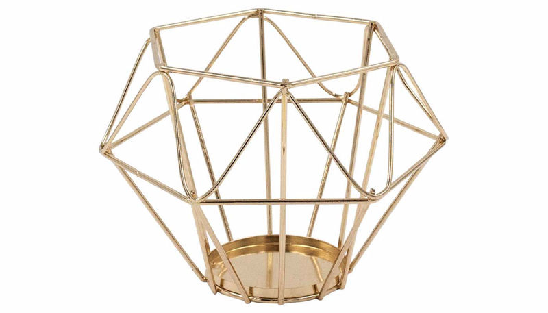 Imagen de HZ Geometric Rose Gold Lantern Medium