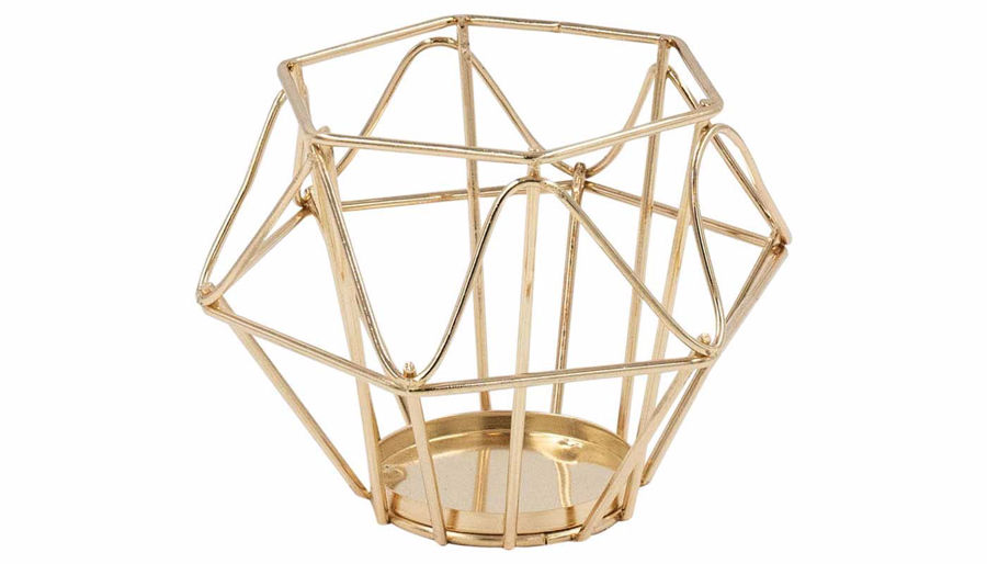 Picture of HZ Geometric Rose Gold Lantern Small