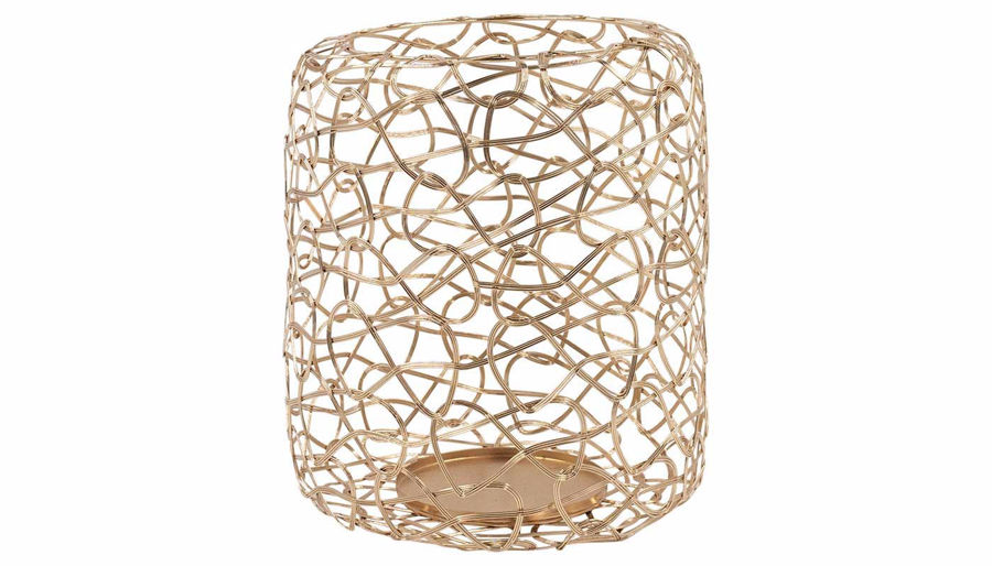 Imagen de HZ Metal Rose Gold Candle Holder Large