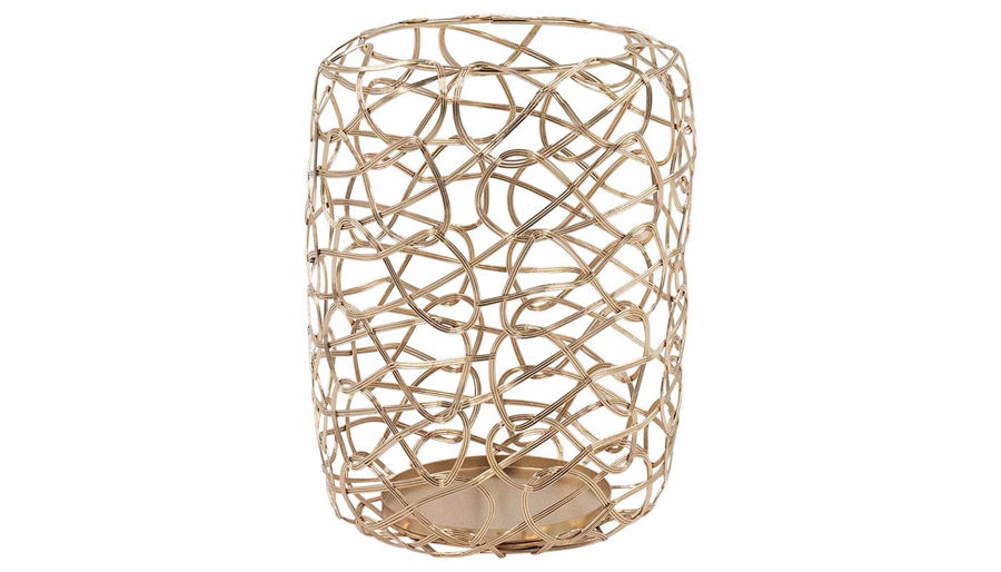 Imagen de HZ Metal Rose Gold Candle Holder Medium