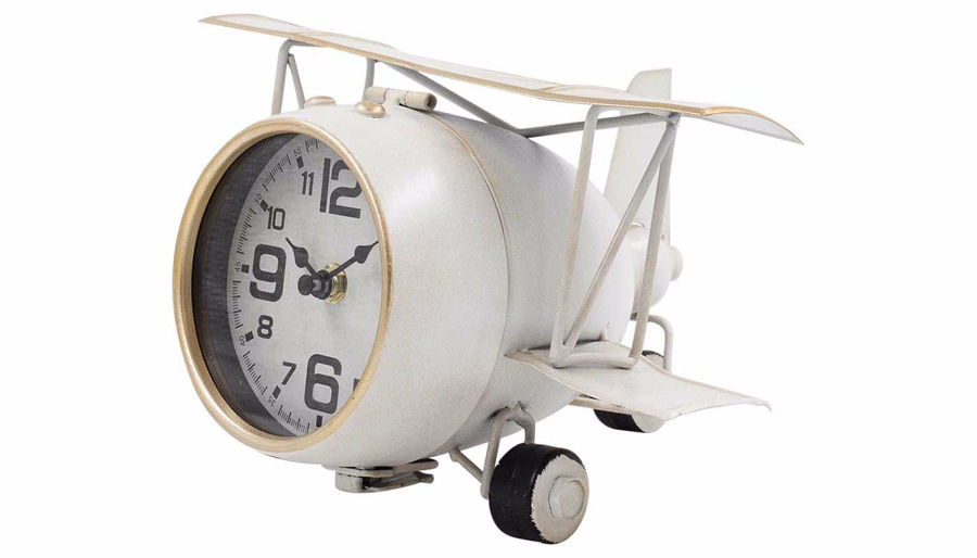 Picture of HZ White Airplane Clock