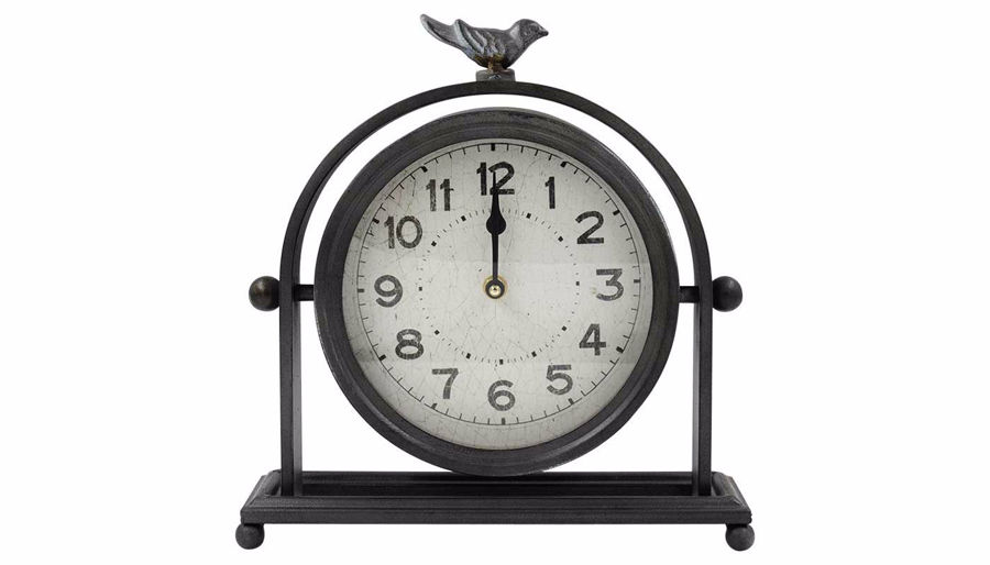 Imagen de HZ Black Clock with Bird