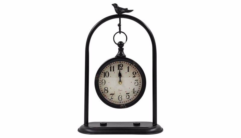 Picture of HZ Black Hanging Clock with Bird