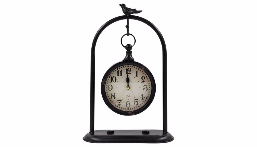 Imagen de HZ Black Hanging Clock with Bird