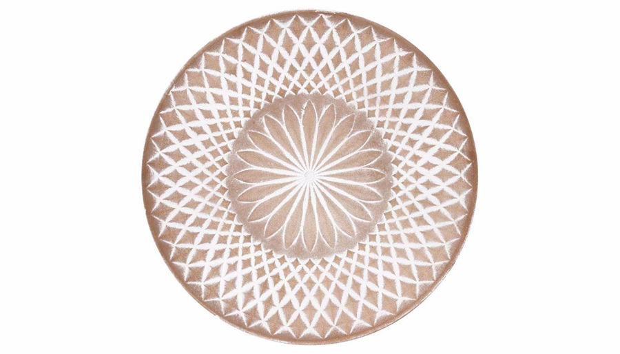 Imagen de HZ Large Embossed Wall Plate Tan