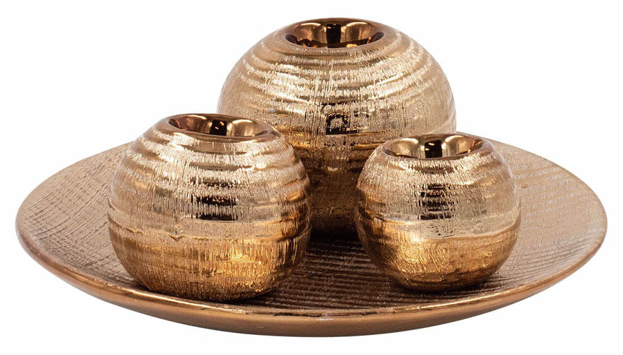 Picture of HZ Bronze Tea Light Holder Large