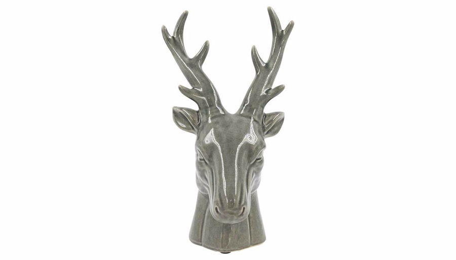 Picture of HZ Grey Ceramic Deer Head