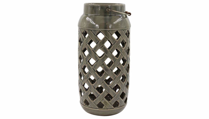 Imagen de HZ Grey Lattice Cutout Vase Large