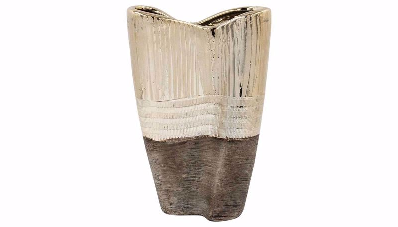 Imagen de HZ Black & Bronze Three Layer Vase Tall