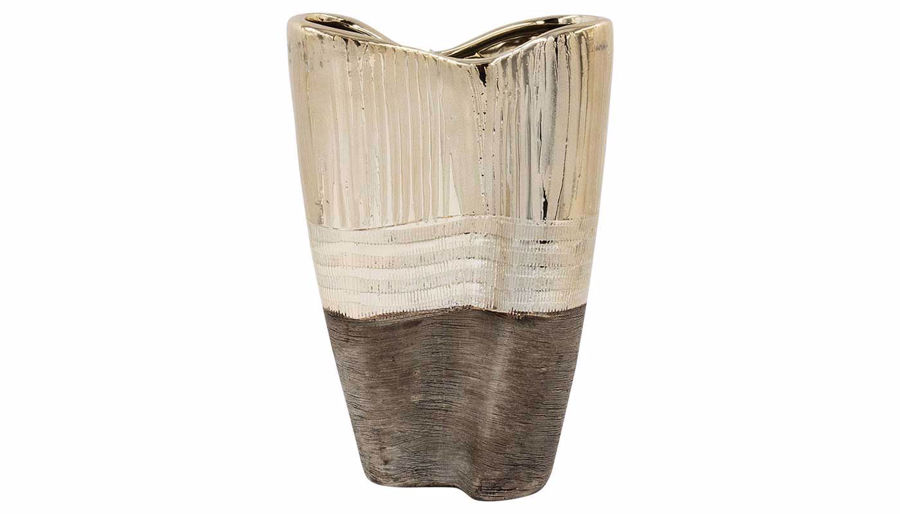Imagen de HZ Black & Bronze Three Layer Vase Tall - MJ17782B