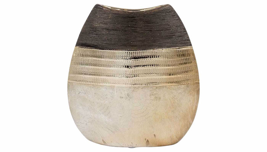 Imagen de HZ Black & Bronze Three Layer Vase Short - MJ17520B
