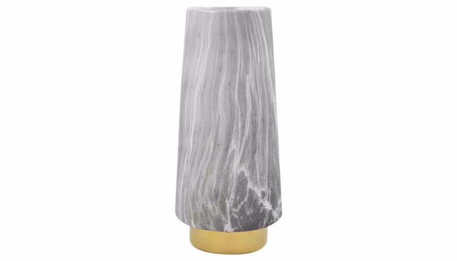 Picture of HZ Gray Marbled Vase Small
