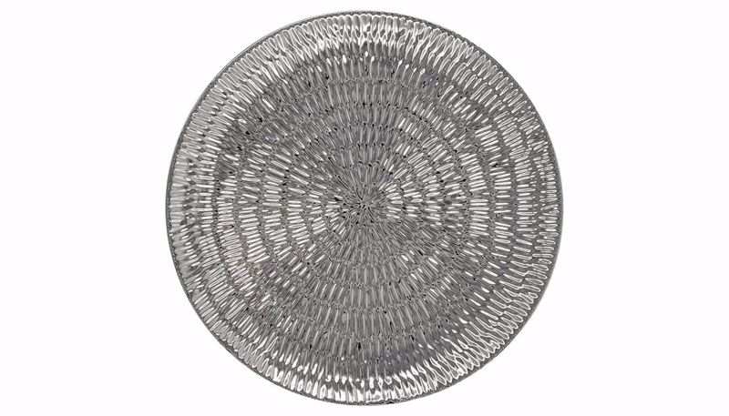 Picture of HZ Round Chrome Ceramic Tray