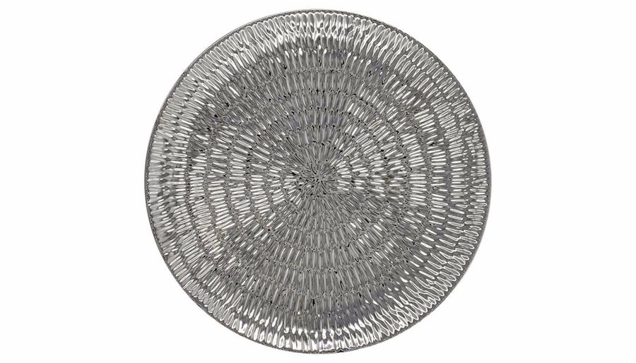 Picture of HZ Round Chrome Ceramic Tray - 171250